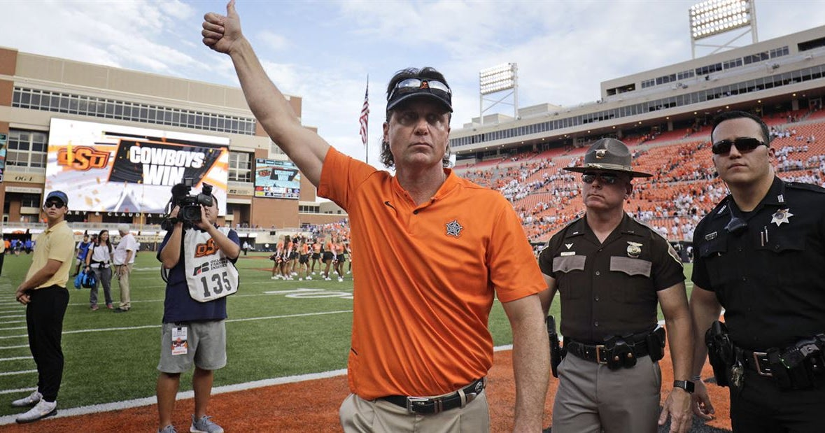 Oklahoma State's Mike Gundy loves to play Donkey Kong