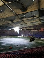 In Metrodome Today Somebody Played Like >> The Day The Metrodome Collapsed