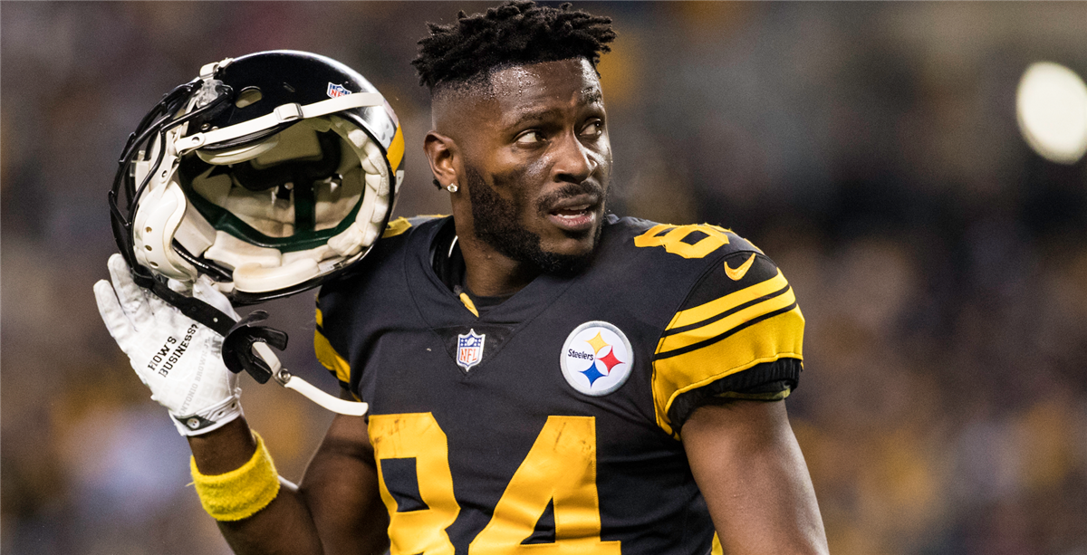 the latest 52cec 17128 Antonio Brown's final moment in Steelers' home jersey