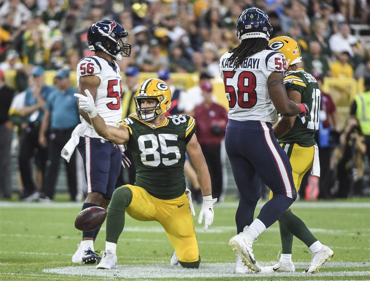 Packers Inactives Robert Tonyan Danny Vitale Active