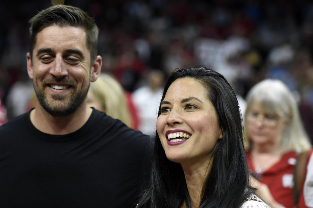 Aaron Rodgers Olivia Munn is very superstitious during games