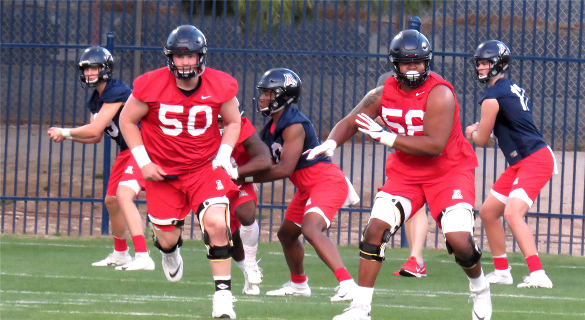 Arizona's offensive line continues to show progress