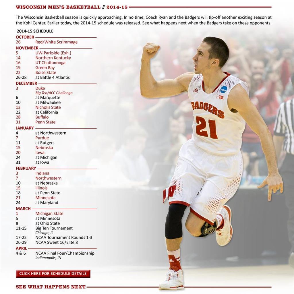wisconsin men's basketball schedule