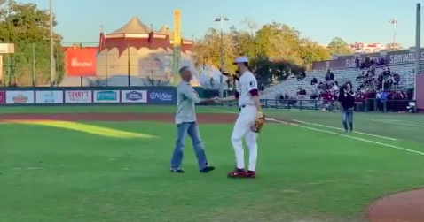 WATCH: Mike Norvell throws a strike at FSU's home opener