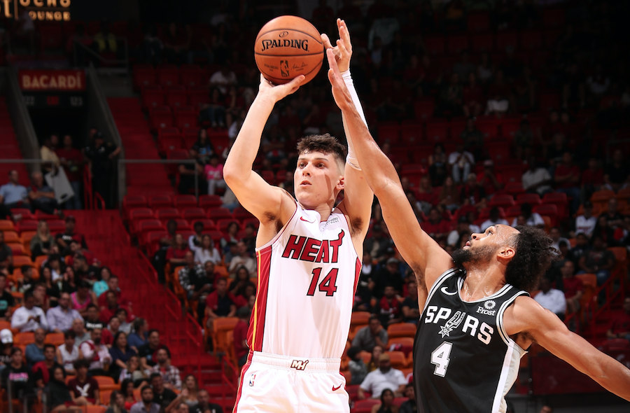 Watch: Tyler Herro hot in Heat debut