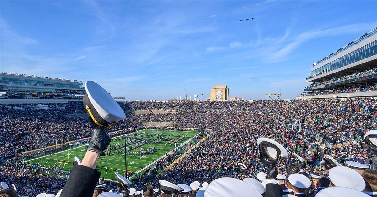 Kickoff time set for Notre Dame vs. Navy in Dublin