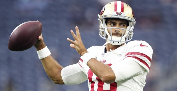 See all of Jimmy Garoppolo's throws against Houston Texans