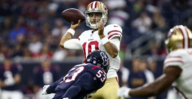 Three ups, three downs for 49ers against Texans