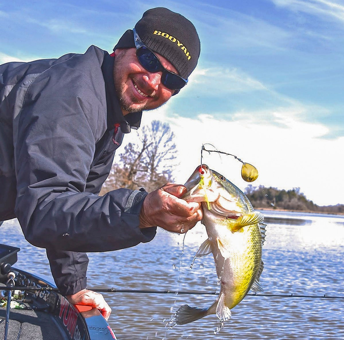 How to find bass in high dirty cold water for Cold water bass fishing