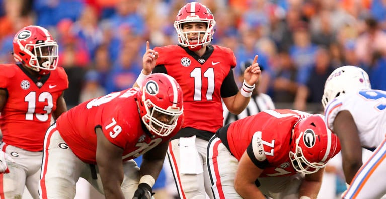 online retailer 77ad2 4730a QB coach sees 'very special' leader in Georgia's Jake Fromm