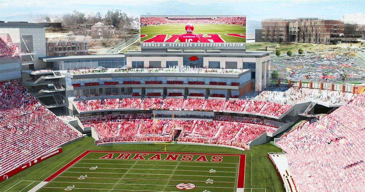 Image result for razorback stadium north endzone expansion