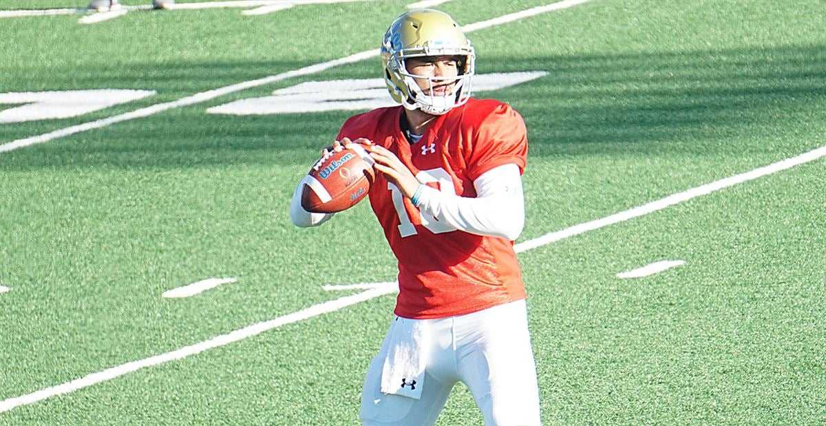 VIDEO: Quarterbacks Throwing at UCLA's Practice