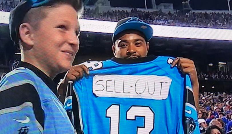Panthers fan disses Kelvin Benjamin with redesigned jersey