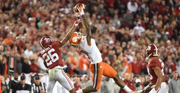 Three wide receivers with diverging paths help Clemson topple Alabama