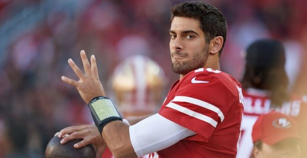 2d1abeeb3 Jimmy Garoppolo takes blame for false starts at practice