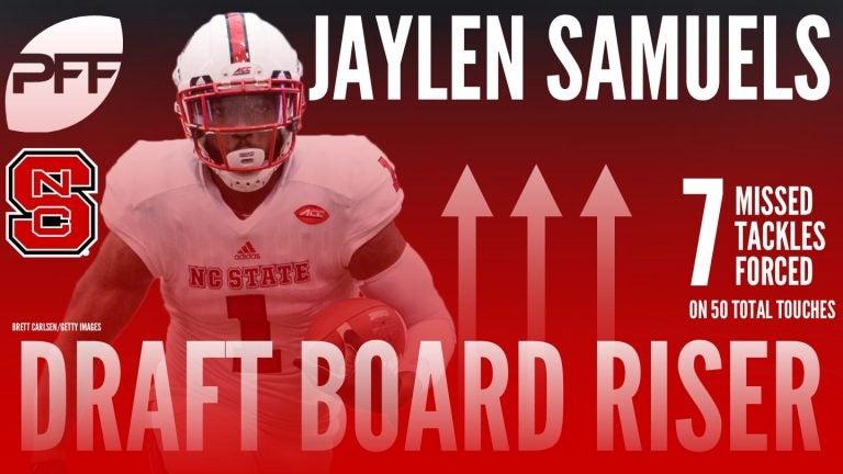 b860e60c8 Jaylen Samuels Tabbed as Pro Football Focus  Draft Board Riser