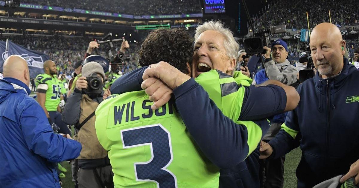 Seahawks' OC Schottenheimer talks about Wilson, Carroll