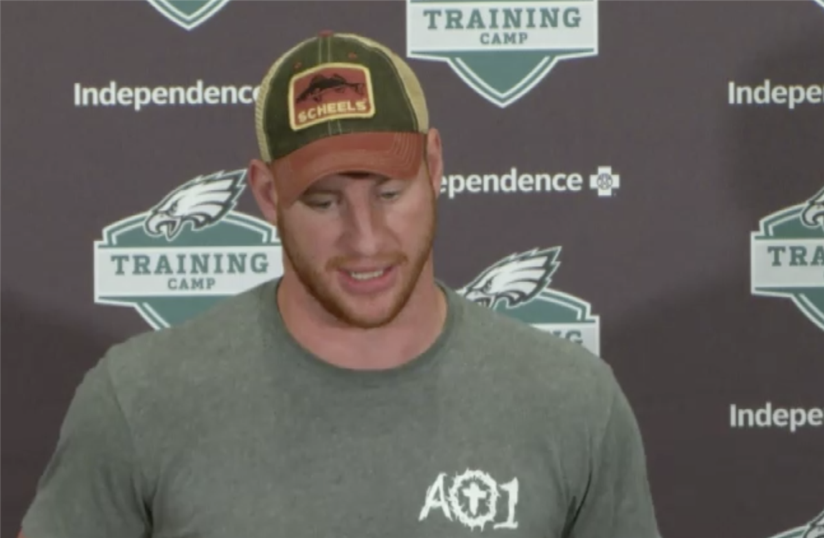 Carson Wentz admits some frustration over the rehab plan