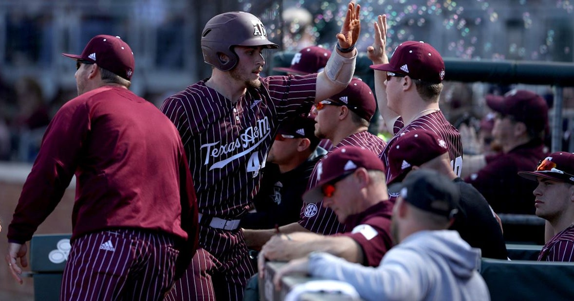 After dominant opening series, A&M baseball rankings hold steady
