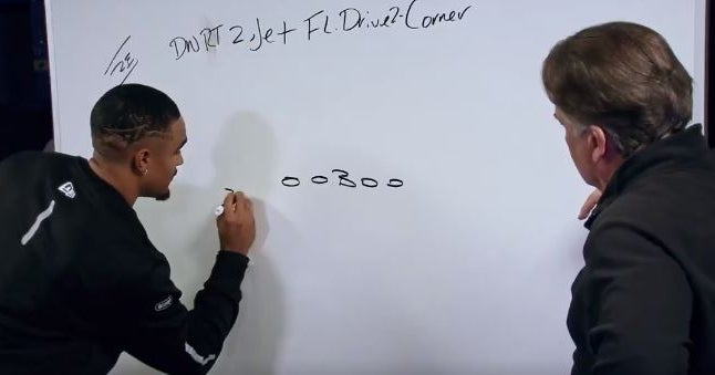 'Freaky' Jalen Hurts excels on Steve Mariucci's whiteboard test