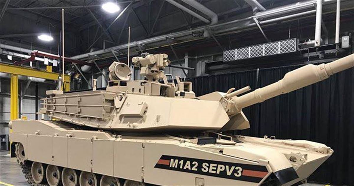 First New Army M1A2 SEP v3 Abrams Tank Arrives
