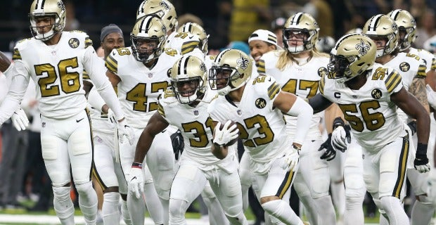 huge discount 028ee 4ec5a Saints' color rush voted NFL's best uniform