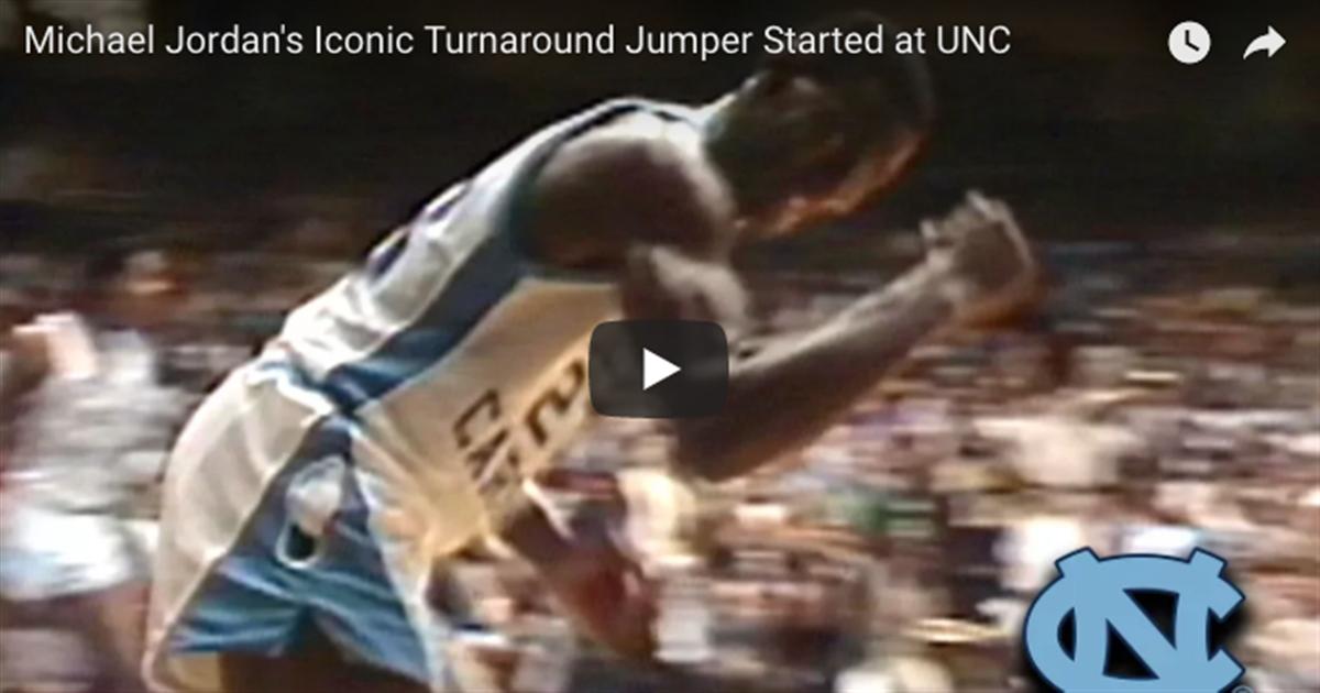 Watch Michael Jordans Iconic Turnaround Jumper Started At UNC