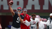 Nick Saban breaks down Bama quarterbacks after scrimmage