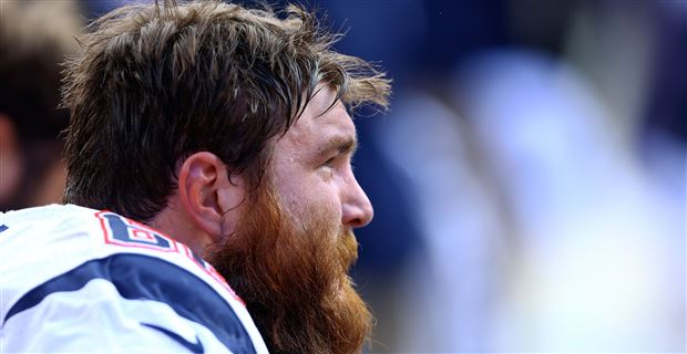 Bryan Stork, former New England Patriots C, visits with New York Jets