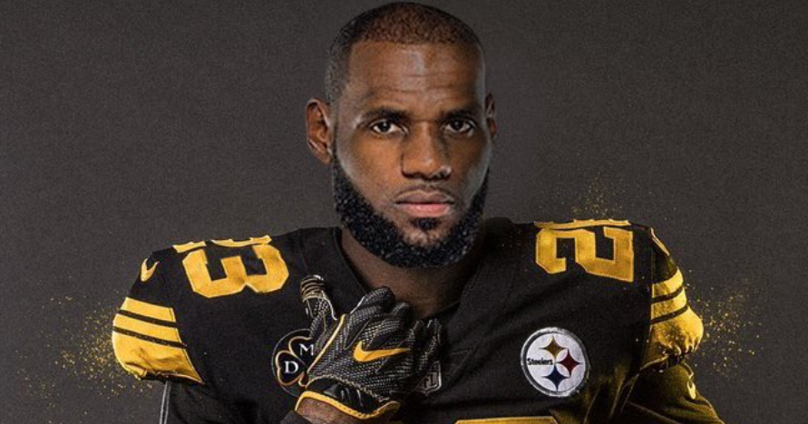 detailed look b7968 f5da4 Photoshop shows what LeBron James would look like as a Steeler