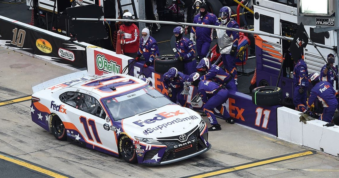 NASCAR suspends 3 members of Denny Hamlin's crew for 4 races