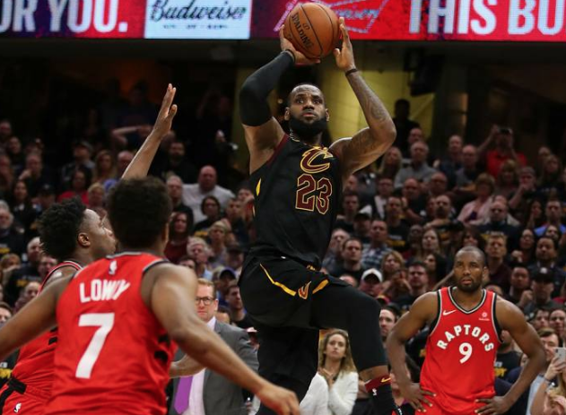 classic fit f1091 42993 NBA players react to LeBron's game-winning shot versus Raptors