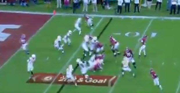 Alabama dials up trick play, Slade Bolden throws TD pass