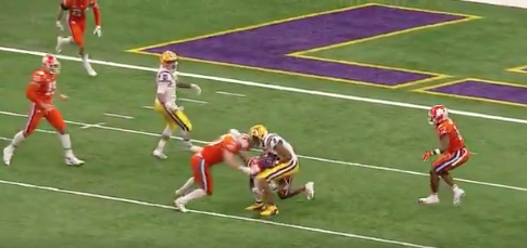 Coaches react to targeting call on Clemson leading to LSU TD
