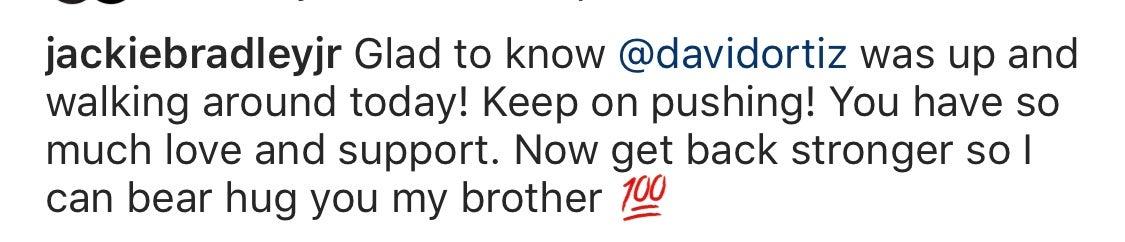 JBJ posts message for David Ortiz