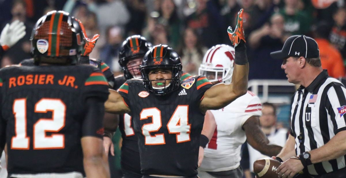 PHOTOS: Miami vs. Wisconsin In The Orange Bowl
