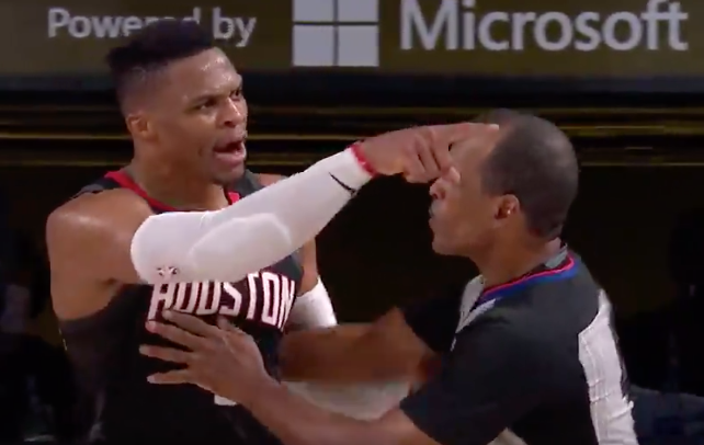 WATCH: Russell Westbrook shouting match with Rondo's brother