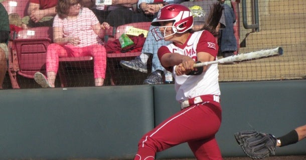 Sooner softball team takes series from Baylor