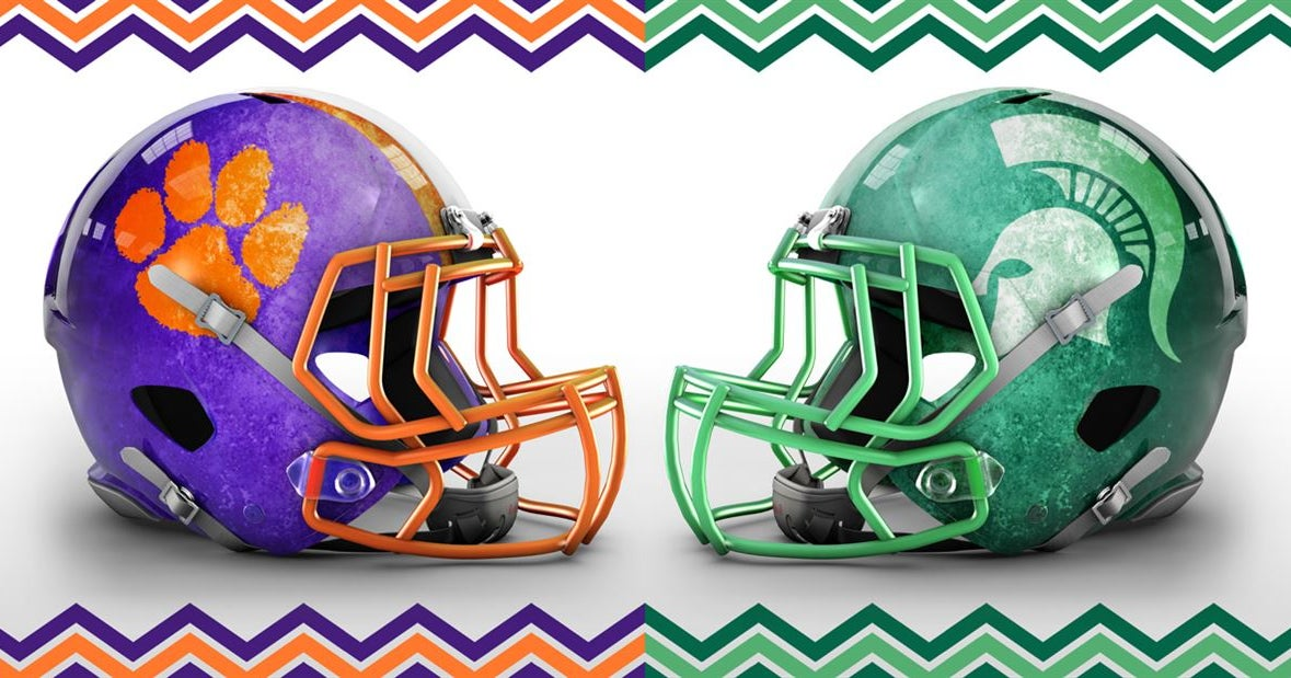 Easter-themed concepts for college football helmets