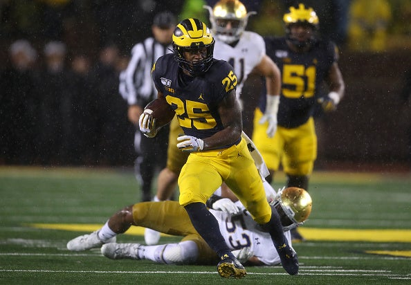 Watch: Hassan Haskins puts Michigan on the board