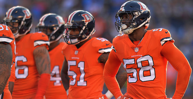 reputable site 4b3f2 e5217 Broncos will wear Color Rush uniforms in Week 12 vs. Steelers