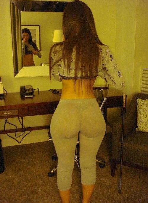 Big booty yoga pants pics