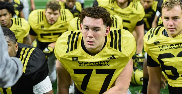 Watch U-M '18 OT commit Jalen Mayfield talk day 2 at Army Bowl