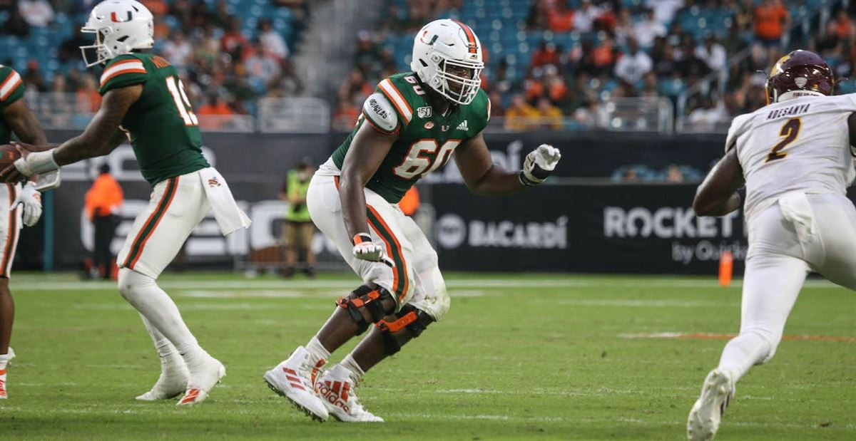 Miami's offensive line took a step back vs. Central Michigan
