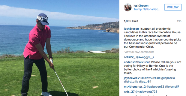 Josh Rosen blasts Donald Trump at his golf course c8092c82d78
