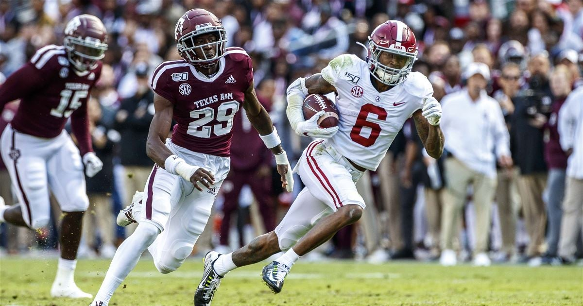 Alabama waiting to learn status of DeVonta Smith after ejection
