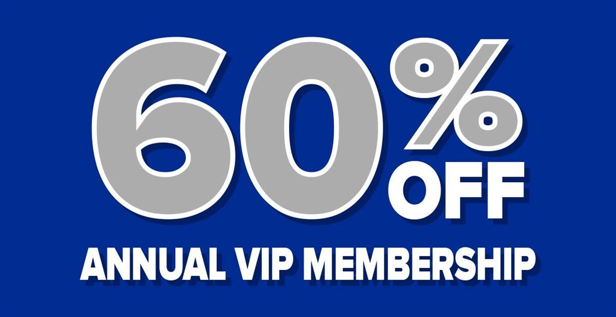 NEW ANNUAL OFFER! Get an annual VIP membership for 60% off