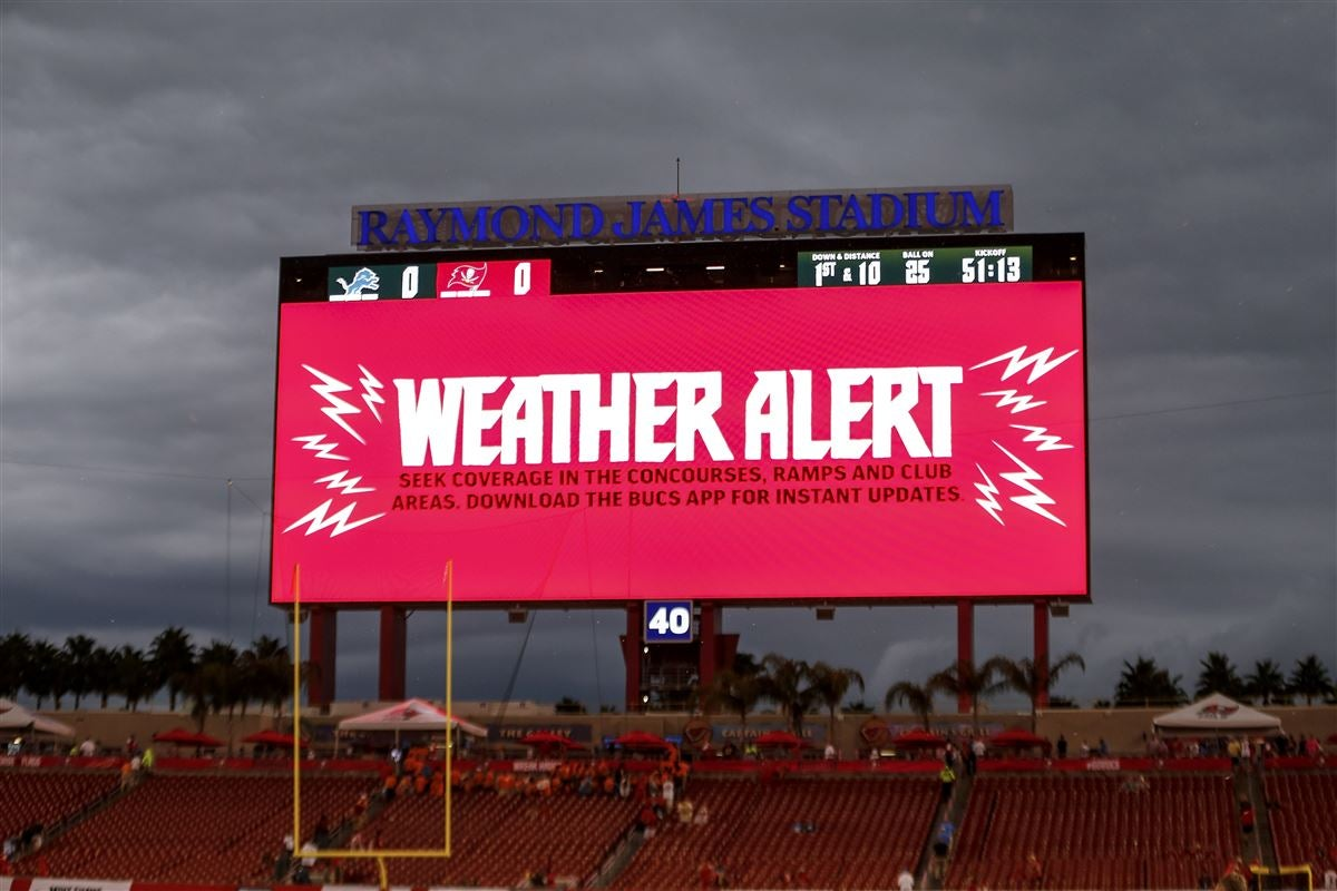 Lions vs  Buccaneers delayed due to weather, kickoff rescheduled