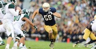 NFL Jerseys - Jarrett Grace, Notre Dame, Inside Linebacker