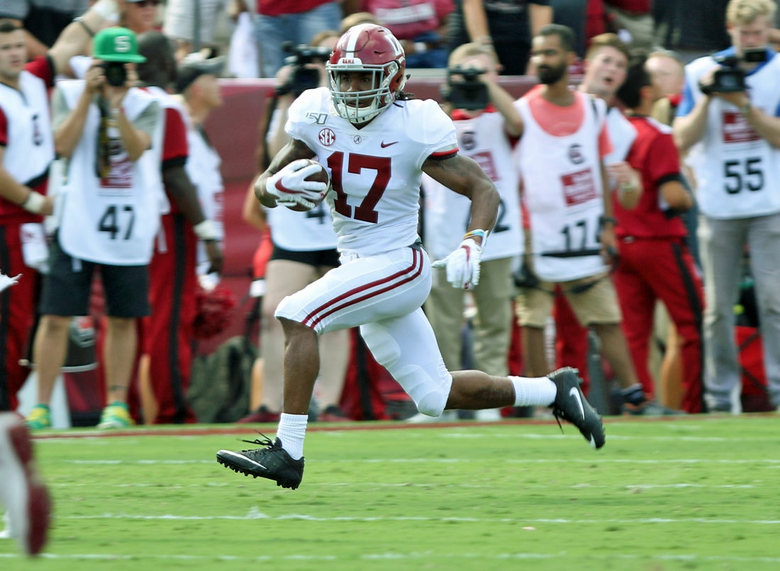 WATCH: Alabama WR Jaylen Waddle scores his first TD of 2019